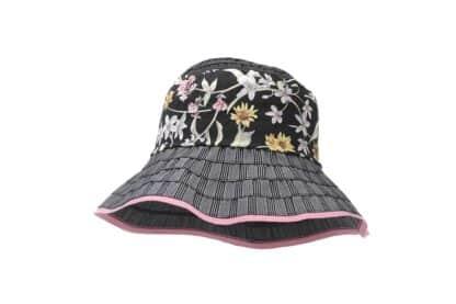 Cappello a cloche Grevi in nastro gros grain a fiori cucito a mano