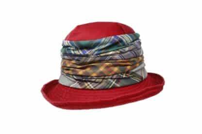 Cloche Grevi impermeabile in patchwork di tessuti scozzesi