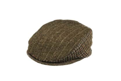Coppola patchwork in tweed irlandese tessuto a mano Grevi