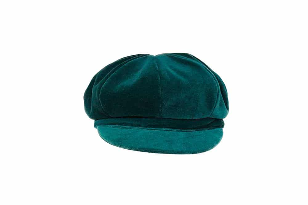 Cappello stile gavroche in morbido velluto. Grevi, made in Italy.