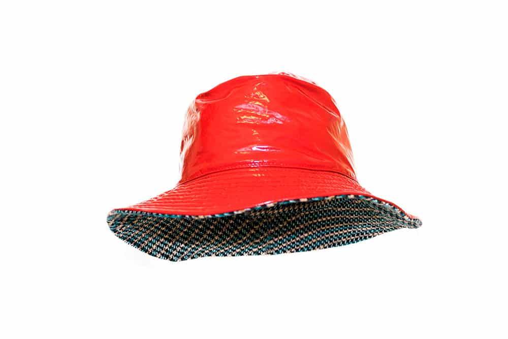 Cappello pescatore impermeabile reversibile giallo