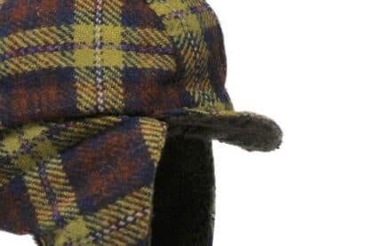 Grevi aviator kids trapper tartan tweed