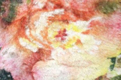 zarina floreale eco pelliccia