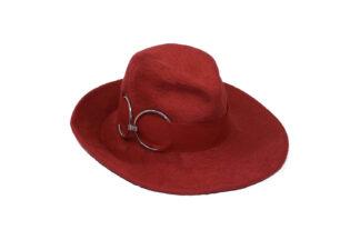 Cappello tesa largarosso in lapin